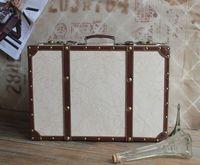 Simple and elegant vintage suitcase travel bag vintage box suitcase luggage props box