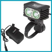 10pcs/lot TrustFire 2000 Lumen 2 x CREE XML T6 Waterproof Rechargeable Bicycle Light Bike Lamp + 4000mAh Battery Pack