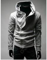 Free shipping wholesale 2013 new top brand korean version men's slim casual coat sports hooded jacket zipper cardigan outerwear
