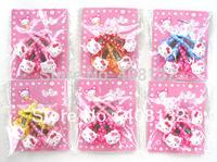 Wholesale Lots ~ Fashion Cartoon Hello Kitty Hair Clip 24 Packet 48 Pairs 96 Pcs