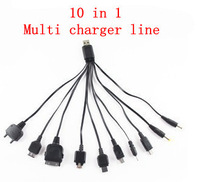 Free shipping 10 in 1 universal usb cables for mobile phones multi charger line