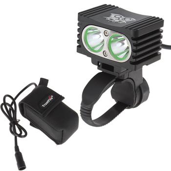 10 PCS/LOT Latest Trust Fire 2000LM 2 x CREE XML T6 Waterproof Bicycle Light + 4000mAh TrustFire Battery Pack