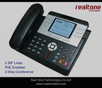 Hot sale! 3 SIP lines, PoE enabled IP phone