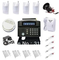 Big package  LCD display  GSM 24 wireless zones and 2 wired zones security home alarm system