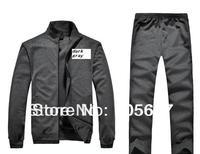 XL--4XL 2013 spring and autumn the fashion leisure clothes double collar Sport suit men ,plus size men's sports set
