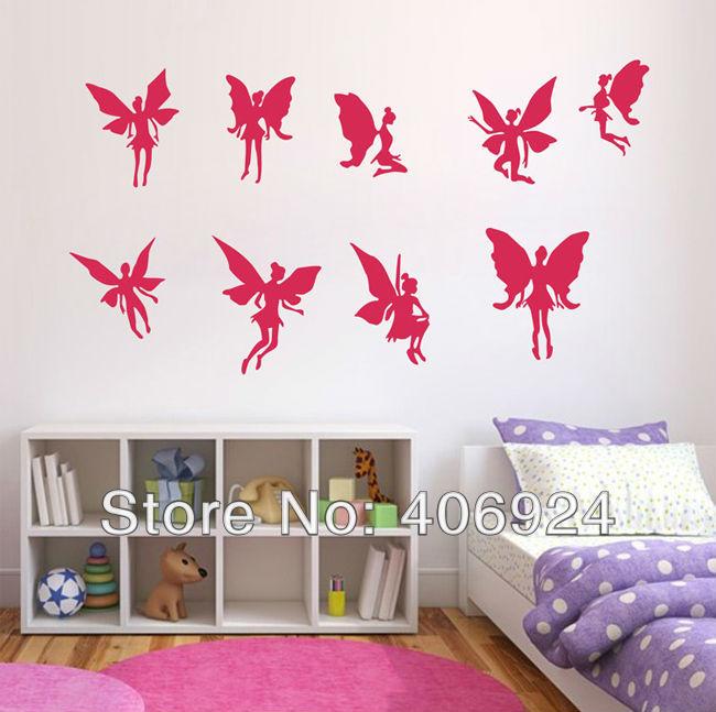 verwijderbare elfen muur stickers stickers decor kinderkamer babykamer ...