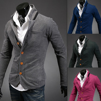 Free delivery of 2013 new styles Korean men's collar stand-collar suit small color matching