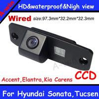 night version Waterproof Car Reverse backup Camera CCD car parking camera for Hyundai Sonata,Tucsen,Accent,Elantra,Kia Carens