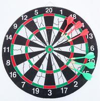 Dart board set dart board 15 17 professional flock printing double faced dartboard 9 dart needle