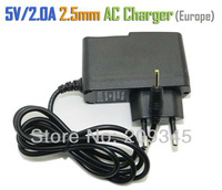 5V 2A DC 2.5mm Europe Plug USA Plug Converter Charger Power Supply Adapter for Sanei Flytouch3/7 Q88 ALL Tablet PC Universal