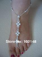 Wholesale  sandbeach stretch anklet bracelet barefoot sandals  wedding accessories