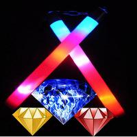 Luminous diamond nunchaku multicolour red blue neon nunchakus