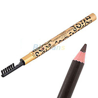 5pcs/lot Waterproof Leopard Brown Eyebrow Pencil with Brush Make Up Eyebrow Enhancers Personal Beauty Care Accessories