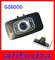 Full HD Car Camera GS8000 1920X1080P 30fps G-Sensor IR Night Vision DVR Video Recorder 2.7 inch 140 Degree Angle