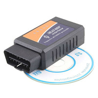 NEW!!OBD2 OBD-II ELM327 ELM 327 V1.5 Bluetooth Car Diagnostic Interface Scanner Works On Android Free Shipping wholesale
