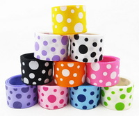 """New Arrival Popular About 1"""" Dots Printed Polyester Grosgrain Ribbon Girls Hairbows Weding Party Decoration Free Shipping SD001"""