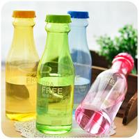 2014 hot sale seconds kill red garrafa frozen free shipping hearts . plastic sealed cup leak-proof portable soda bottle water