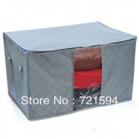 Free Shipping Thick charcoal Quilt Pouch Storage Bags /Storage Organizer/Home Storage/Bedding Storage