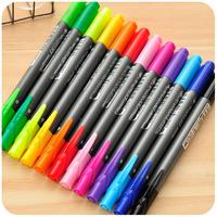 2014 seconds kill desenho copic markers free shipping korea monami stationery double slider watercolor pen multicolour fresh 12