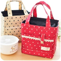 Free shipping Hearts . lace decoration canvas lunch bag lunch bags stanniol insulation bag lunch bags small bag
