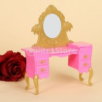 Free Shipping Dollhouse Miniature Bedroom Furniture Dressing Table