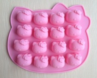 Free shipping 1PCS pink Hello kitty shape Fondant Cake pan Silicone Mold Sugar craft Baking Pan Cake Decoration