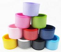 free shipping 1 inch  Polka Dots Grosgrain Ribbon -Free Shipping,10 color mixed