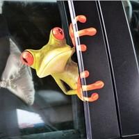 Free Shipping Personalized Cartoon Frog Sticker Gekkonidae Car Sticker Waterproof Metal Decoration - 1PCS 16x14CM