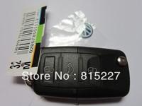 10pcs/lot VW Volkswagen 3 Button Remote Key Shell Key Blank Case + HKP Free Shipping