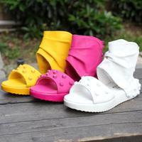 free shipping 2013 summer female child sandals rivet open toe high big boy child sandals boots