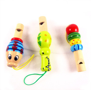 Educational musical instrument toy wool school boy style whistle single