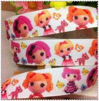 Free shipping 1'' (25mm) Lala Loopsy printed Grosgrain ribbon Polyester Cartoon Ribbon DIY