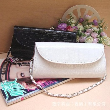 2013 Fashion Lady's Clutch Handbag Wedding Bridal Party Evening Bags Day Clutches Satchels Hobos Free Shipping, White/Black