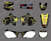 New Style  ROCKSTAR TEAM DECALS STICKERS  Graphics Kits fo SUZUKI RM125 RM250 2001-2012