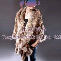 bg0005 Русский стиль подлинной дешевые кролика вязаный жилет короткий жилет