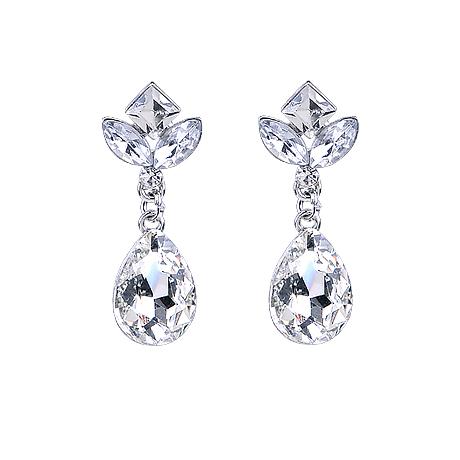 Luxury gem colour bride marriage of the big earrings no pierced wedding
