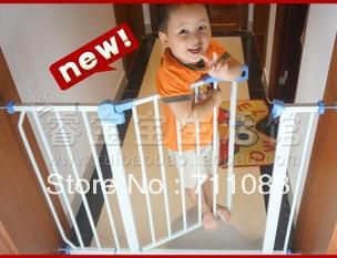 VENDA QUENTE portão de segurança do animal de estimação isolando altura da gaiola cerca válvula de porta de segurança para crianças: comprimento 77 centímetros :75-85(China (Mainland))