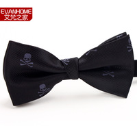 skull all-match male double layer fashion male fashion bow tie personalized