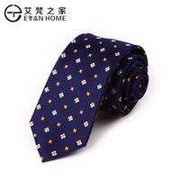 Luxury nano waterproof tie men's casual all-match navy blue decorative pattern