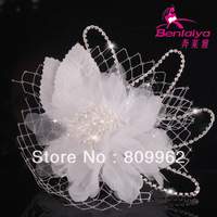 2013 News Free Shipping 3pcs/lot Flower Hairwear Handmade Bridal Jewelry Wedding Hair Accessories White Hair Jewelry