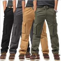 Hot 2013 New XXXXL Men's Camping Hiking Pants Tactical Outdoor Trousers Men Pocket Sport Straight Canister Slacks Overalls S163