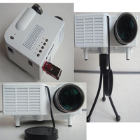"High quality 60"" Mini Portable HD LED Projector Cinema Support PC Laptop VGA /AV/SD input cqw"