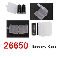 2013 new  Hard Plastic Case Holder Storage Box for 26650 Battery  case holds 2 batteries MQO:1pcs free shipping cost