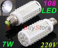 10pcs/lot,Ultra bright LED bulb 7W E27 220V Cold White/Warm White light LED lamp with108 led 360 degree Spot light Free shipping