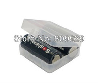 free shipping Hard Plastic Case Holder Storage Box for 26650 Battery  case holds 2 batteries