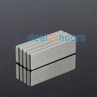 10PCS Big Bulk Super Strong Strip Block Magnet Rare Earth Neodymium 50 x 15 x 5 mm N35 Free Shipping