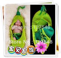 2013 new FREE SHIPPING/ HOT SALE/ Photography Prop Newborn Baby Pea sleeping bag Handmade Crochet clothes