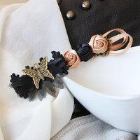 Clearance Butterfly lace top clip headdress flower hairpin Korea retro jewelry wholesale hair styling hairpin FJ-06