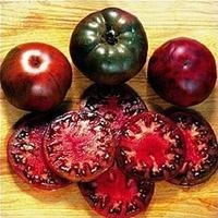 10 Original Packs, 10 Seeds / pack, Black Krim Tomato Russina Heirloom Seeds Fine Textured Flesh Large Tomato #A00251