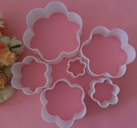 6PCS Flowers Shape Cake Decorating Cookies Cutter Paste Sugar craft Mold Tool